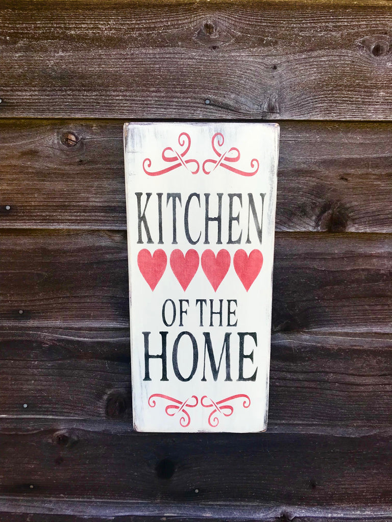 kitchen sign, wood sign, hand painted sign, kitchen decor, rustic decor, primitive sign, kitchen home decor