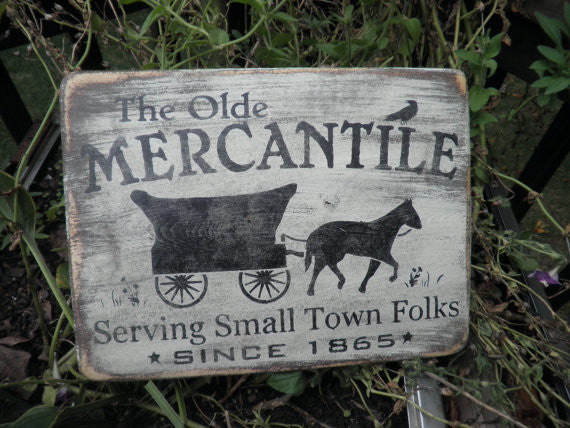 hand painted wood sign, rustic primitive home decor, by Mockingbird Primitive