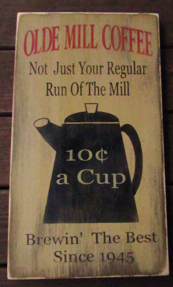Primitive Country Decor Kitchen Sign, Coffee Sign,wood Sign, Country  Kitchen Sign,
