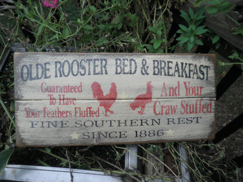 primitive rustic hand painted wood sign by  Mockingbird Primitive