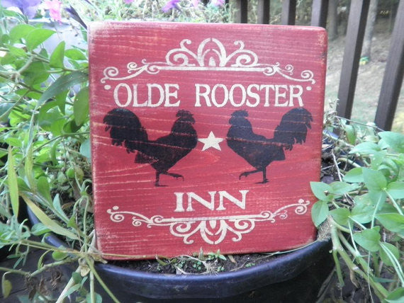 primitive rustic home decor, hand painted wood sign, kitchen sign by mockingbird primitive