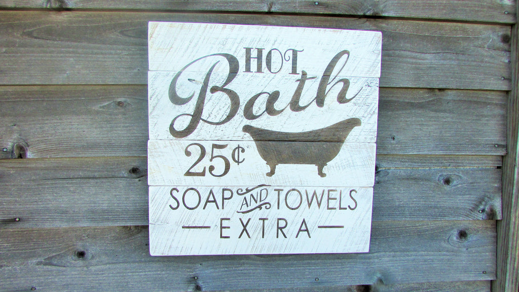 bathroom decor shabby chic pallet decor pallet sign primitive rusti