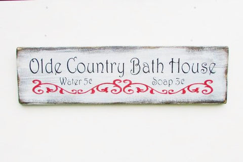 wood bathroom sign, primitive bathroom sign, white washed, with distressed lettering, bathroom , country bath decor, decor, rustic, home decor