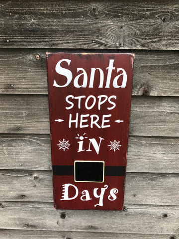 Santa count down sign, Christmas count down sign, Christmas decor, children Count down to Christmas sign, Christmas  decorating