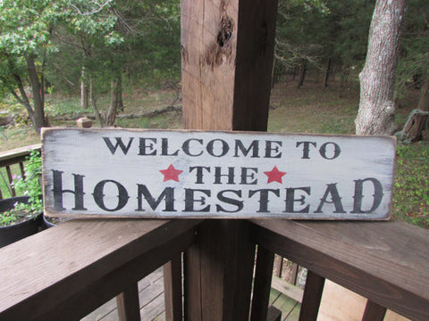 primitive rustic signs, welcome signs, primitive home decor, hand painted signs, wood signs