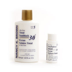 Nancy K. Brown Sun Defense Mineral Shield / Block 30+ white (untinted) - Your Skin Care Clinic