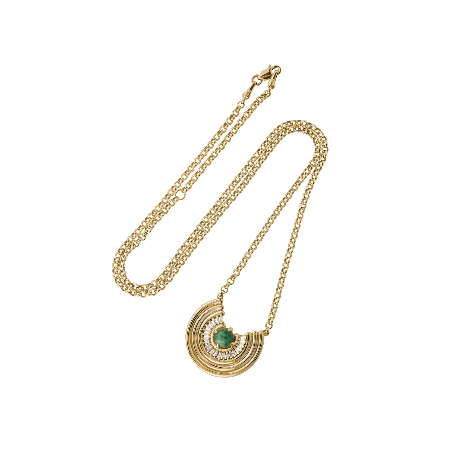 Revival Baguette Necklace Jade