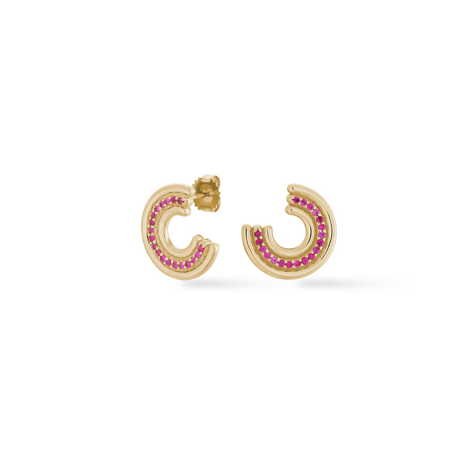 Revival Midi Studs Pink Sapphire