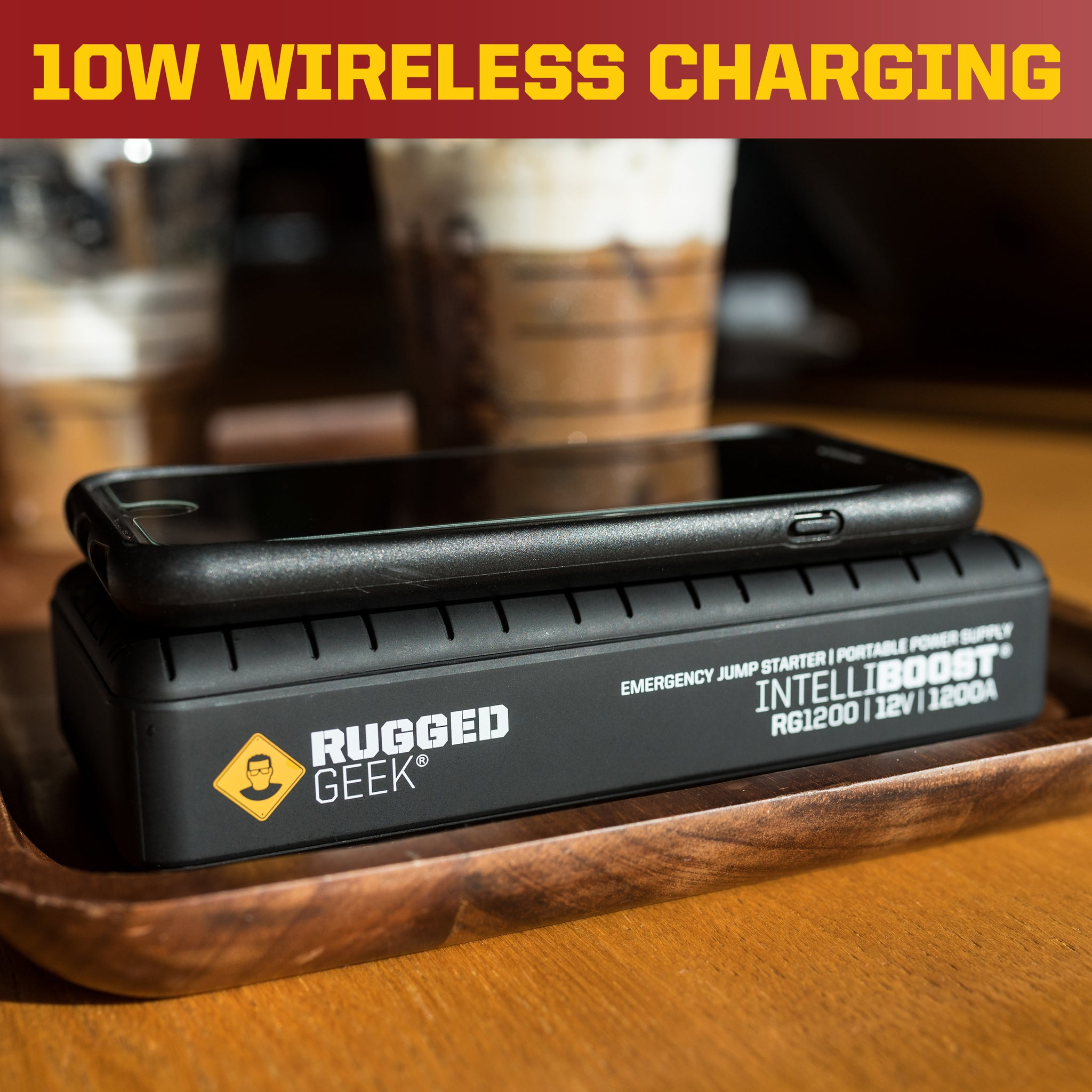 RG1200 Safety Portable Jump Starter & Power Supply w/ Wireless Charging