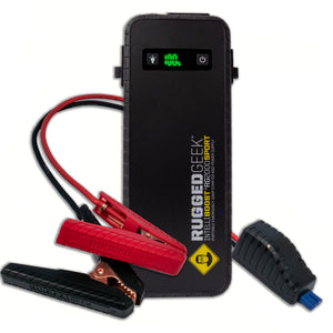 Rugged Geek RG2000 SPORT 2000A Portable 12V Jump Starter/Booster Pack and Power Supply