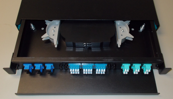 Fiber Patch Panel loaded with adapter panels