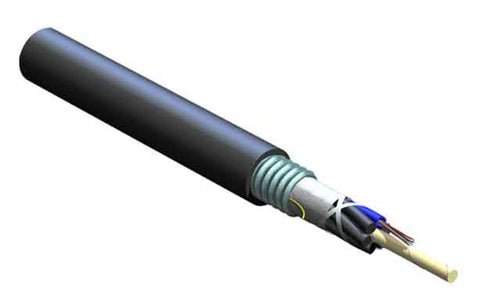 ALTOS Lite Loose Tube, Gel-Free, Single-Jacket, Single-Armored Cable, 12 F, 62.5 µm multimode (OM1)