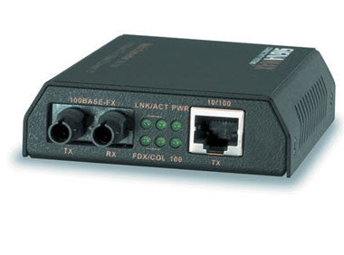 10/100 Base- T/TX to 100 Base-FX, MM/ST with USB Power Option, 2 km Distance