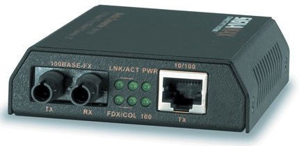 10/100Base-T/TX to 100Base-FX, SM/SC Media Converters (w/ link fault signaling), 40km Distance