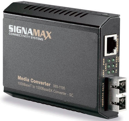 1000Base-TX to 1000Base-SX MM/SC Gigabit Converter, 220m(62.5) / 550m(50) Distance