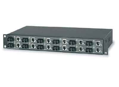 12-Channel Media Converter 10/100 Base - T/TX to 100 Base FX ST/MM