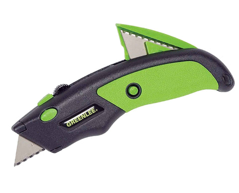 Utility Knife - Molded for Secure, Comfortable Grip, Retractable 3-Position Blade for Safety