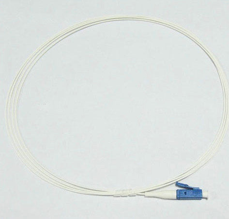 LC/UPC-LC/UPC Single Mode Simplex Fiber Optic Patch Cable 5 Mtrs 900um jacket size, White Jacket Color