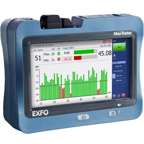 EXFO Optical Wave Expert IOLM Advanced OTDR with Visual Fault Locator, Power Meter, WiFi, and Bluetooth