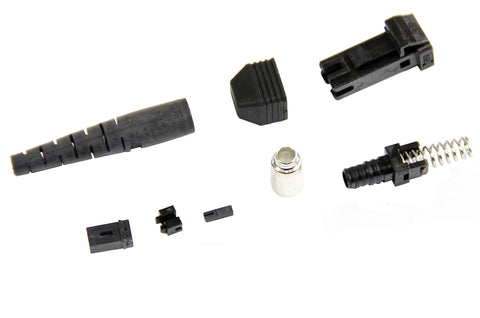 MTRJ Plastic Ferrule 125µm Multimode Connector, 3mm Boot, Female, Molex