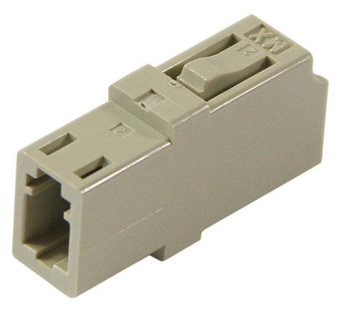 Multimode LC Mating Sleeve, Phos. Bronze Sleeve, Snap Mount, Beige Color, Mfr Molex