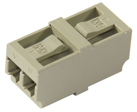 Duplex Multimode LC Mating Sleeve, Beige Color, Phos. Bronze Sleeve, Snap Mount, Mfr Molex