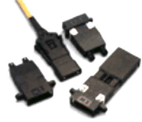 ST-ESCON (female-female) Adapter, Polymer Housing, Black Color, Mfr Molex