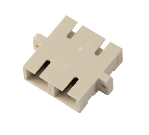 Duplex Multimode SC Mating Sleeve, Polymer Housing, Beige Color, Mfr Molex
