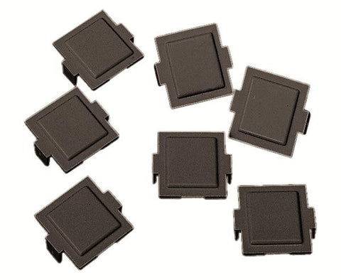 M20 Dust Cover for M-Series Faceplates and Outlets, black, 100/pk