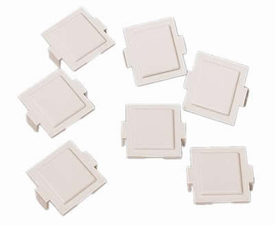 M20 Dust Cover for M-Series Faceplates and Outlets, ivory, 100/pk
