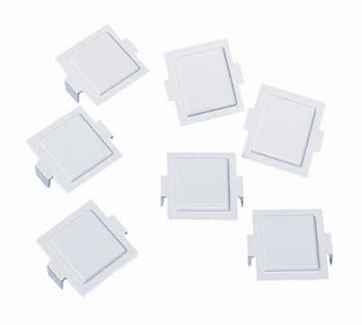 M20 Dust Cover for M-Series Faceplates and Outlets, white, 100/pk