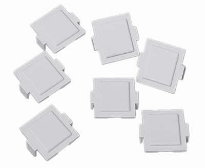 M20 Dust Cover for M-Series Faceplates and Outlets, gray, 100/pk