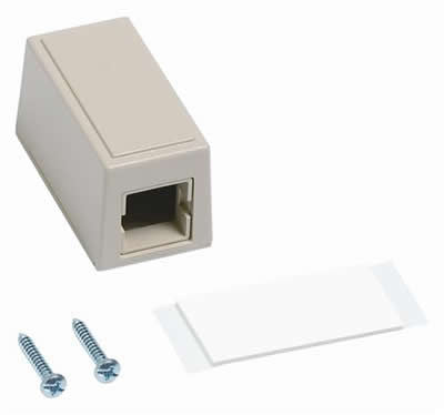 CommScope M101 Type Surface Mount Box, single port Ivory