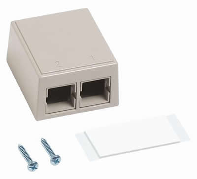 CommScope M102SMB 2-port Surface Mount Box, Ivory