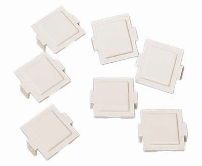 M20 Dust Cover for M-Series Faceplates and Outlets, Cream, 100/pk