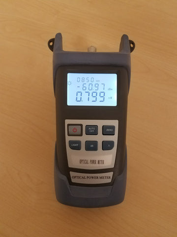 Hand Held Power Meter - 0.01dB Resolution, Calibrated at 850/980/1300/1310/1490/1550/1625nm