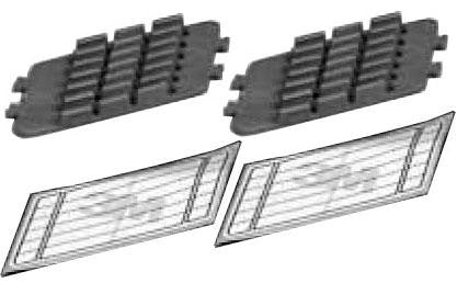 3M 2521FL Fibrlok splice inserts (2 pack) -Fit 2522,2523,2527 trays (6 splices per insert)