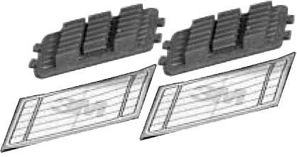 3M 2521F Single fusion splice inserts (2 pack) -Fit 2522,2523,2527 trays (12 splices per insert)