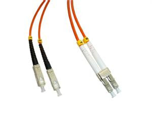 SCP-LCP-MD6 - SC/PC to LC/PC multimode 62.5/125 duplex fiber optic patch cord cable, 3m