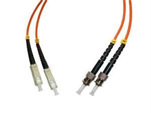 SCP-STP-MD6 - SC/PC to ST/PC multimode 62.5/125 duplex fiber optic patch cord cable, 2m