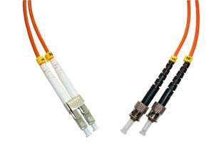 LCP-STP-MD6 - LC/PC to ST/PC, multimode 62.5/125 duplex fiber optic patch cord cable, 1m