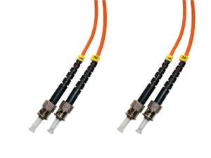 STP-STP-MD6 ST/PC to ST/PC multimode 62.5/125 duplex fiber optic patch cord cable, 1m
