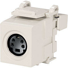 S-Video QuickPort Snap-in Bulkhead Connector, MFR Leviton