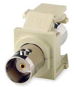 BNC QuickPort Adapter, Nickel Plated, MFR Leviton