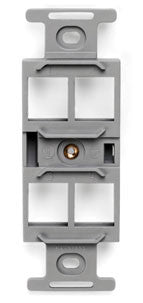 QuickPort Quad 106 Insert (Fits Any Standard NEMA Duplex Faceplate), Mfr Leviton