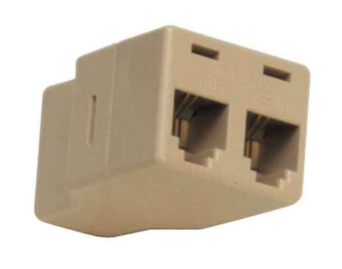 Modular Adapter Y splits One 8P8C to two 6P4C jacks