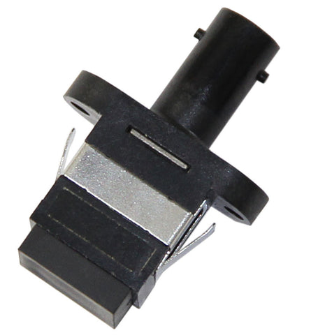 SC-ST (female-female) Adapter, Polymer Housing, Zirconia Sleeve, Black Color, Mfr TE Connectivity