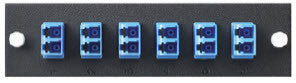 Six Pack, Duplex LC SM 12 Fiber (Blue) - Leviton OPT-X Adapter Plate