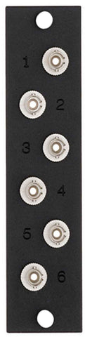 6-Pack ST Multimode Adapter Plate - Leviton OPT-X Adapter Plate