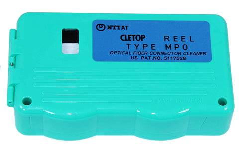 CLETOP Male MT, MTP, MPO Reel Connector Cleaner - White Tape - Male MT, MTP, MPO